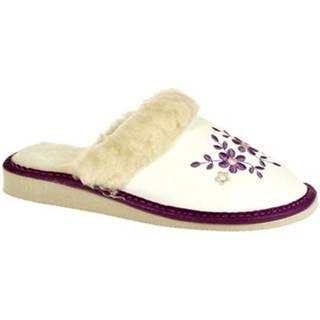Papuče John-C  Dámske biele papuče MALVINA