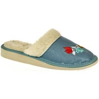 Papuče  Dámske modré papuče ALESYA