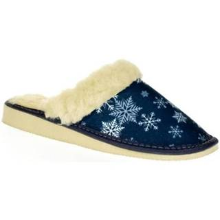 Papuče John-C  Dámske modré papuče LUNA