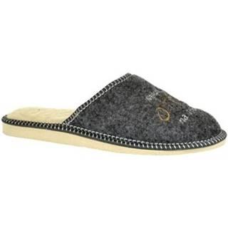 Papuče John-C  Pánske sivé papuče NAJ OTEC