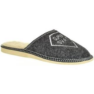 Papuče John-C  Pánske sivé papuče SUPER SVAT
