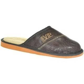 Papuče John-C  Pánske sivé papuče VIPMEN