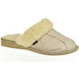 Papuče  Dámske luxusné kožené papuče GITA