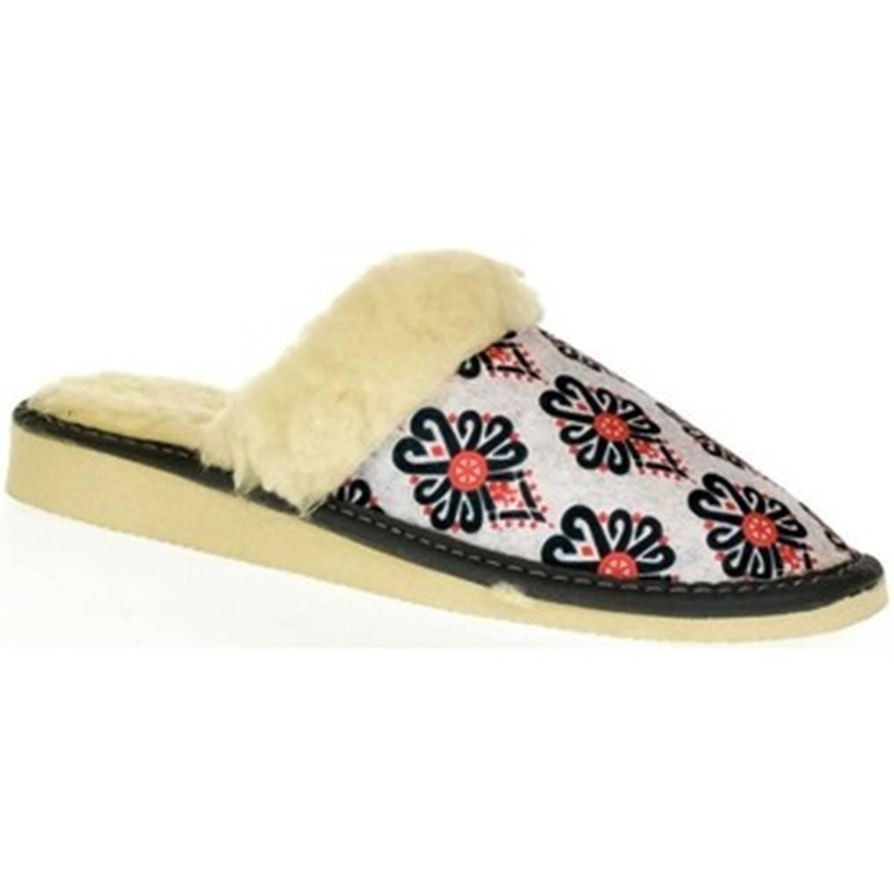 John-C Papuče John-C  Dámske biele papuče ILONA