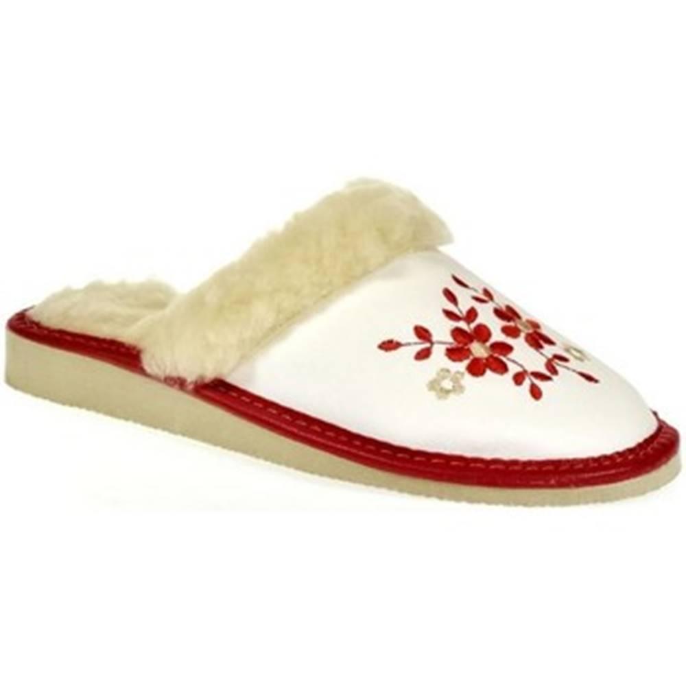 John-C Papuče  Dámske biele papuče MALVINA