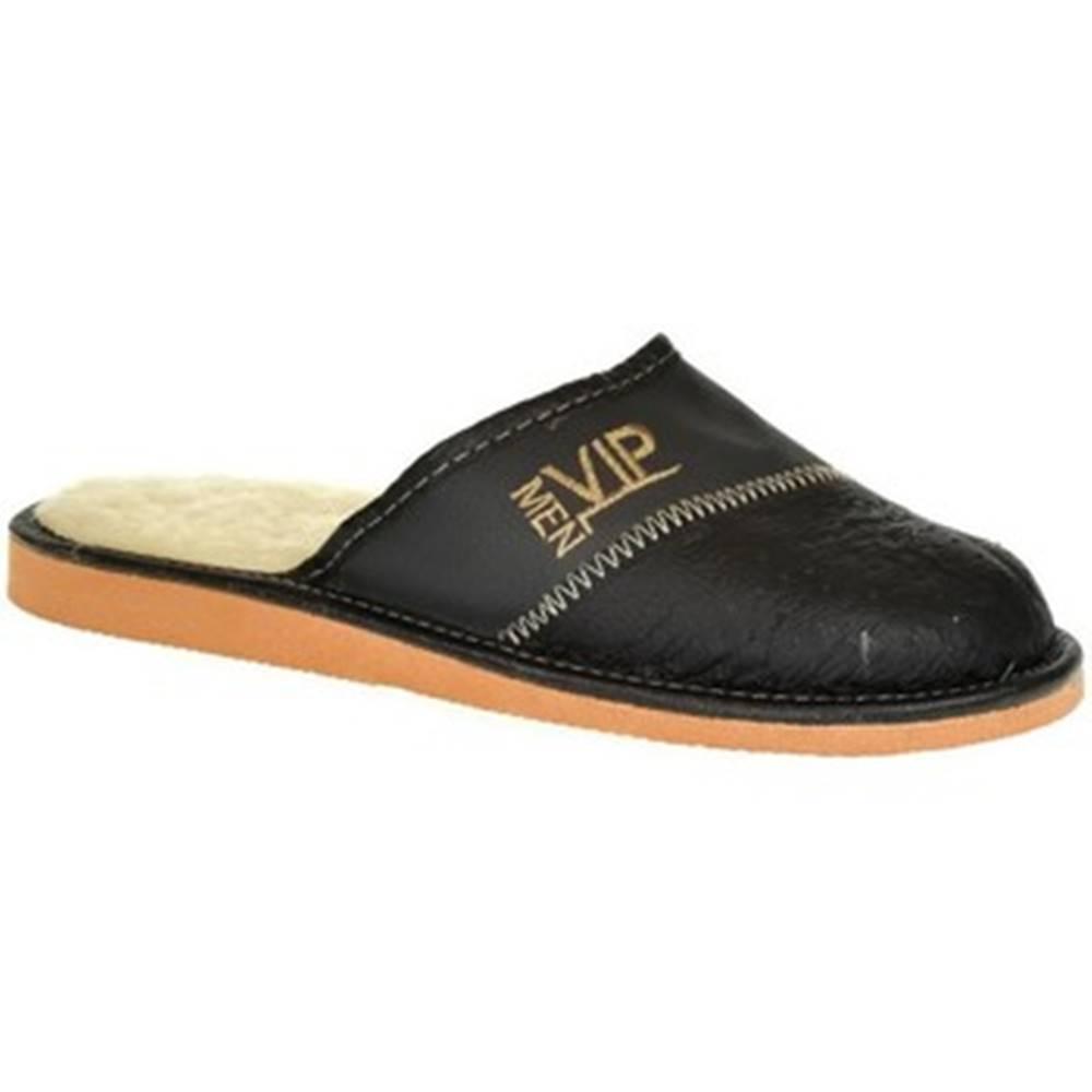 John-C Papuče John-C  Pánske čierno-sivé papuče VIPMEN