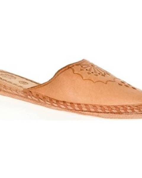 Béžové papuče Just Mazzoni