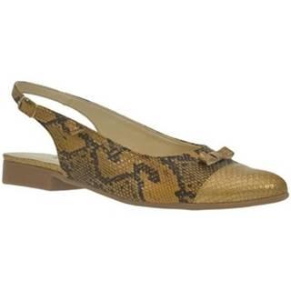 Sandále John-C  Dámske zlato-čierne sandále EVELINE