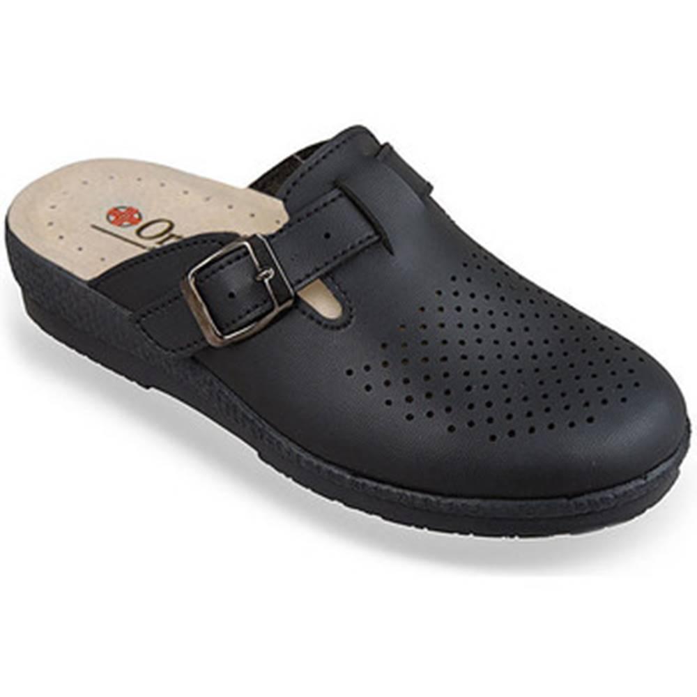 Mjartan Papuče Mjartan  Dámske čierne papuče  DORIS
