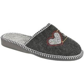 Papuče Bins  Dámske sivé papuče SEGRA