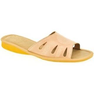 Šľapky John-C  Dámske béžové papuče OLA