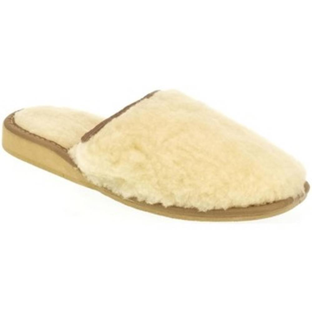 John-C Papuče John-C  Dámske béžové papuče VLNA