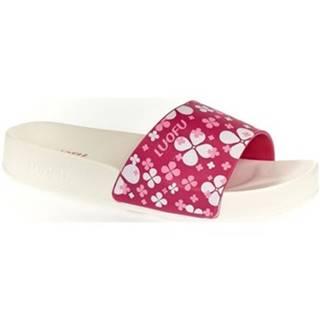 športové šľapky Wink  Dámske bielo-ružové šľapky MISCHA