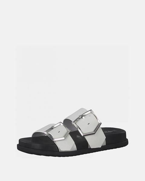 Biele papuče Tamaris