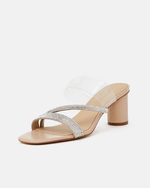 Strieborné sandále Aldo