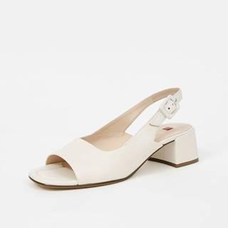 Krémové dámske kožené sandálky na podpätku Högl