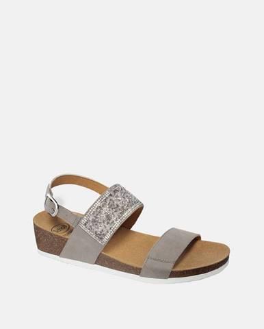 Sivé sandále Scholl