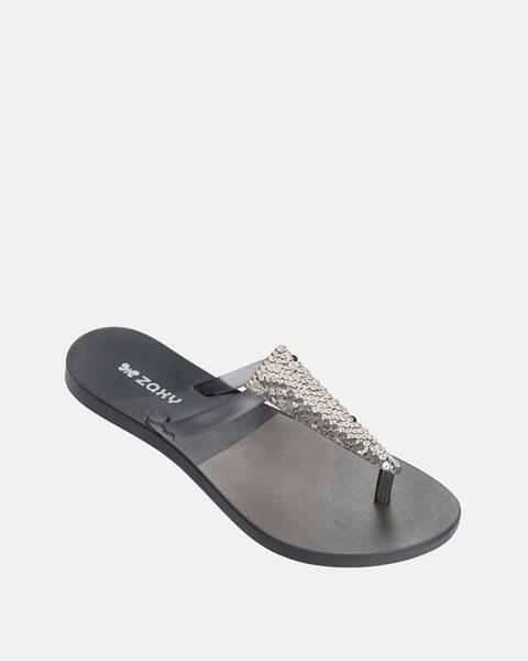 Sivé papuče Zaxy