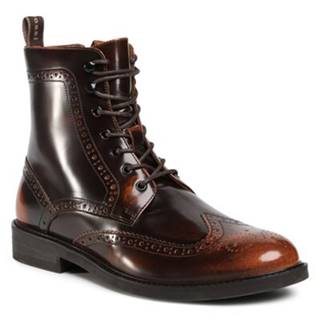 Šnurovacia obuv  MI07-A962-A791-27 Prírodná koža(useň) - Lícova