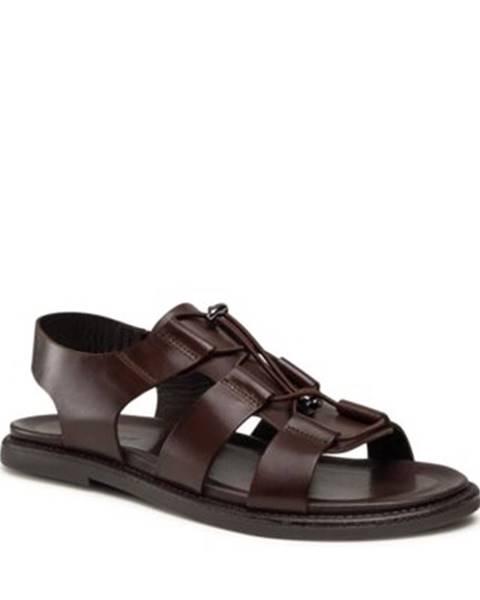 Tmavohnedé sandále Gino Rossi