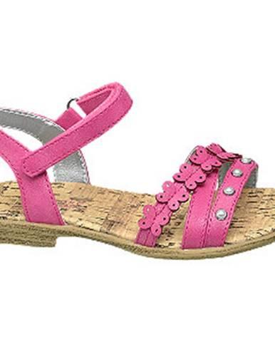 Fuksiové sandále Cupcake Couture