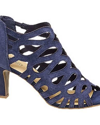Tmavomodré sandále 5th Avenue