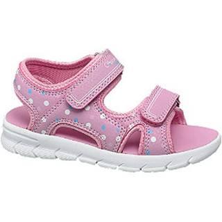 Ružové sandále na suchý zips
