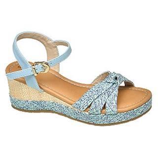 Modré sandále na platforme