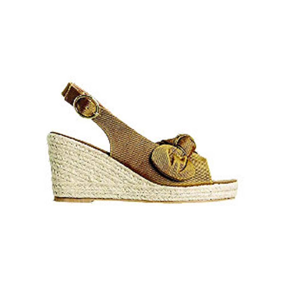 Vero Moda Zlatohnedé sandále na klinovom podpätku Vero Moda