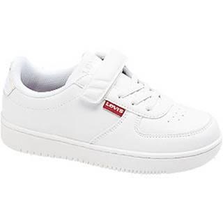 Biele tenisky na suchý zips Levis