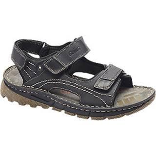 Čierne kožené komfortné sandále Gallus