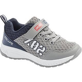 Sivo-modré tenisky na suchý zips Bobbi Shoes