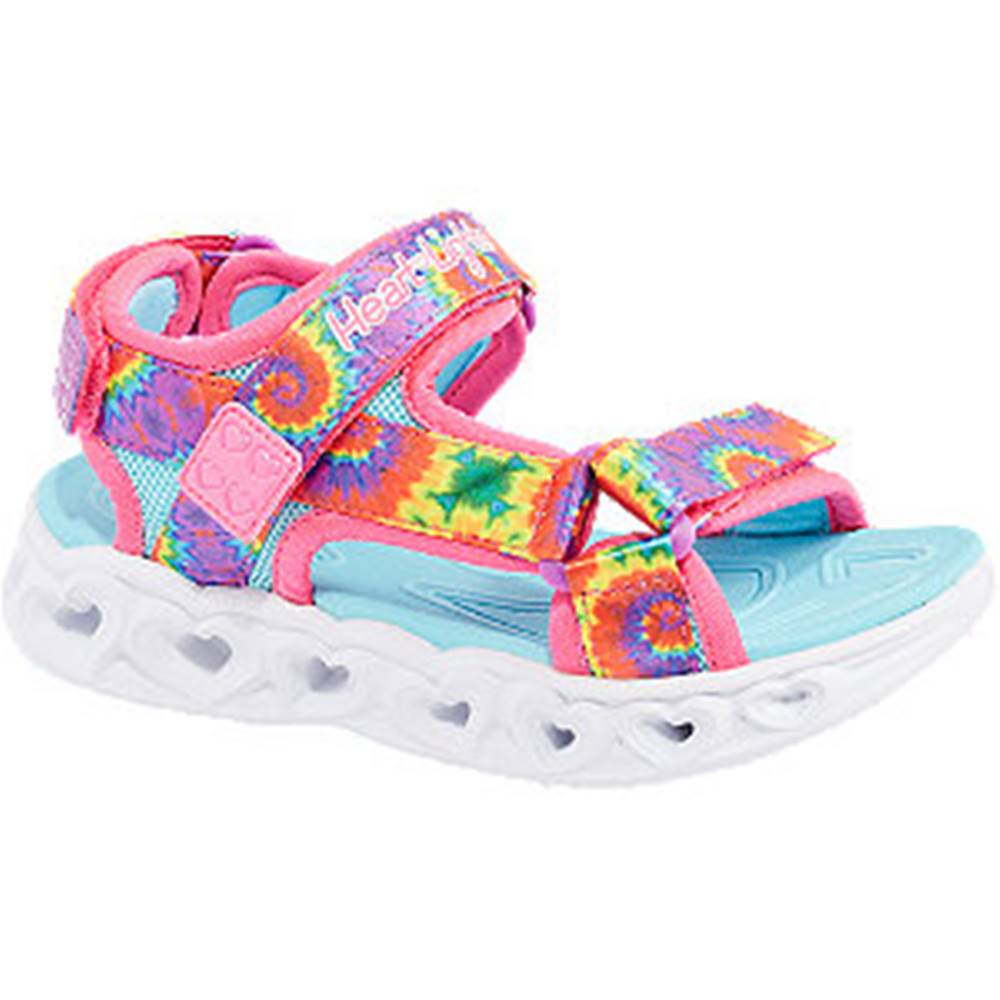 Skechers Viacfarebné sandále na suchý zips so svetielkom Skechers