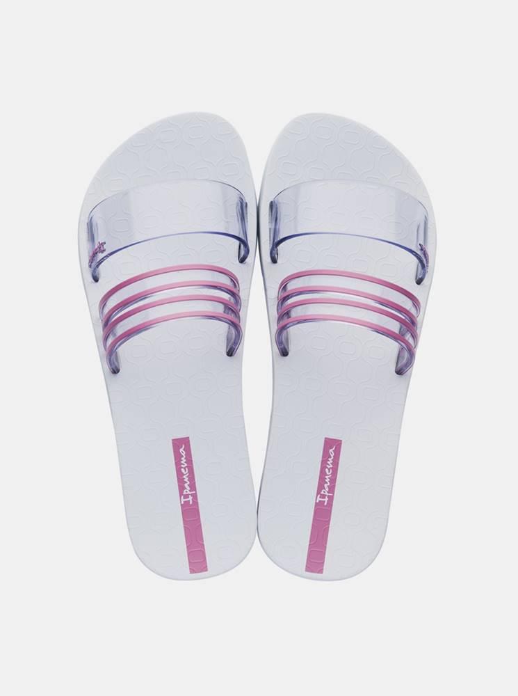 Ipanema Bielo-ružové dámske šľapky Ipanema