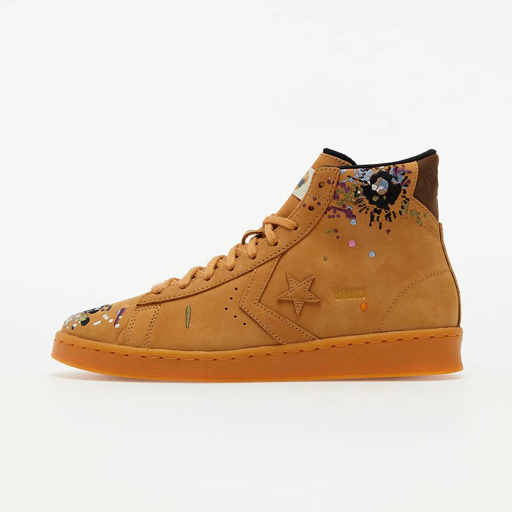 Converse x Bandulu Pro Leather Mid Flux/ Gum Light Honey/ Brown
