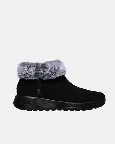 Čierna zimná obuv Skechers