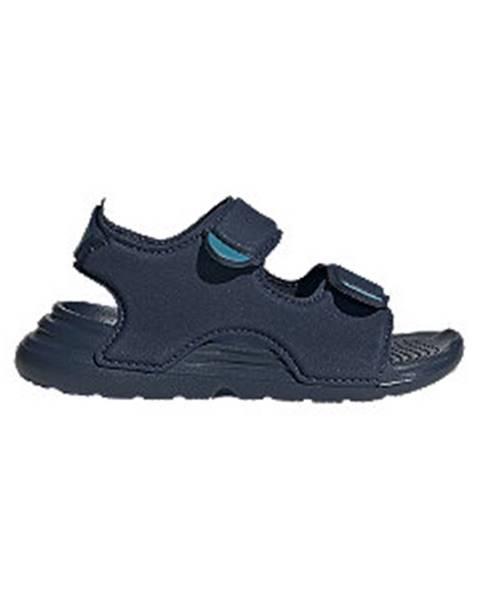 Tmavomodré sandále adidas