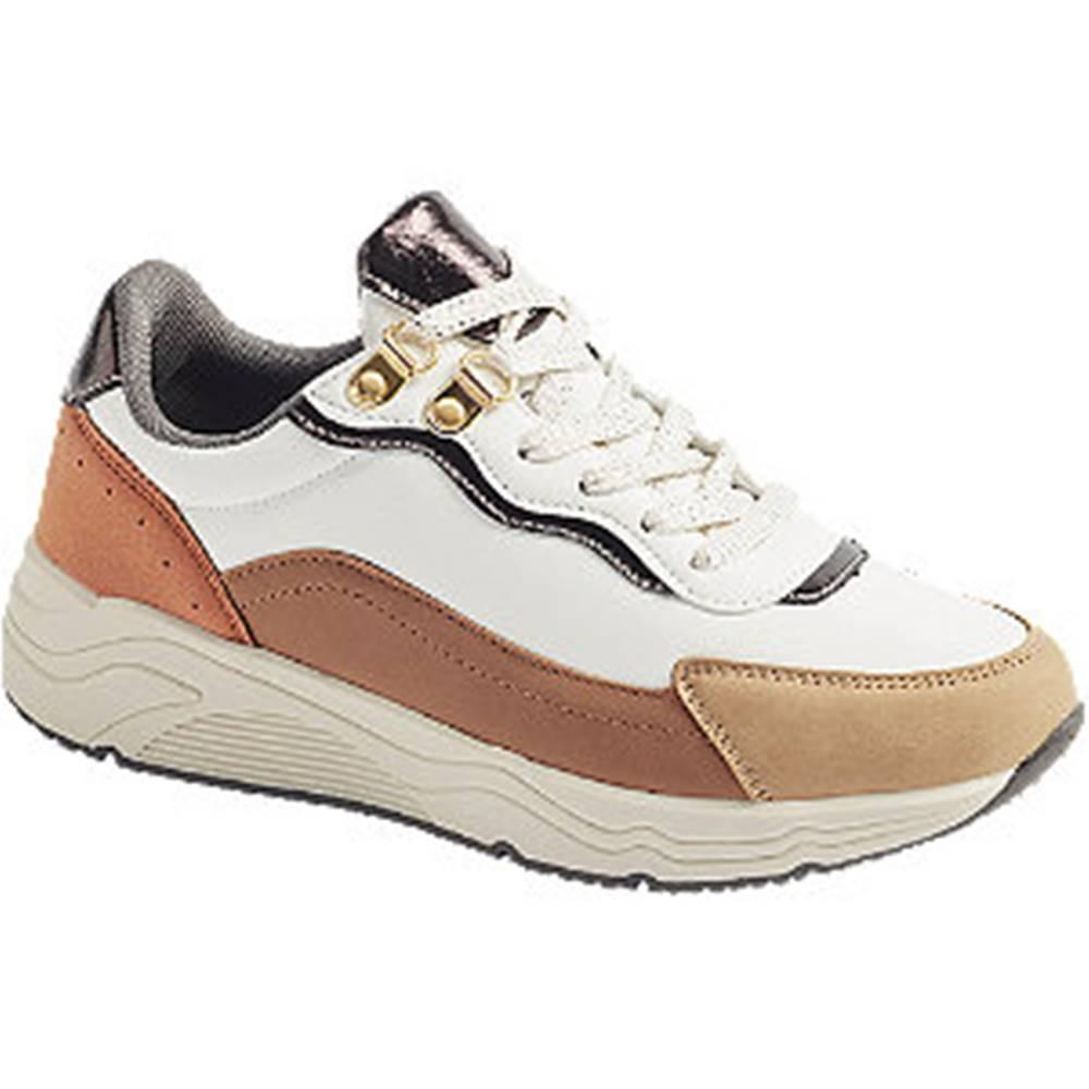 Graceland Bielo-hnedé tenisky