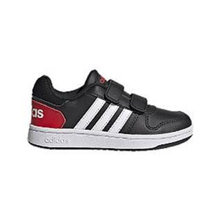 Čierne tenisky na suchý zips Adidas Hoops 2.0 CMF C