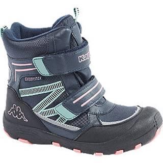 Modrá členková obuv na suchý zips s TEX membránou