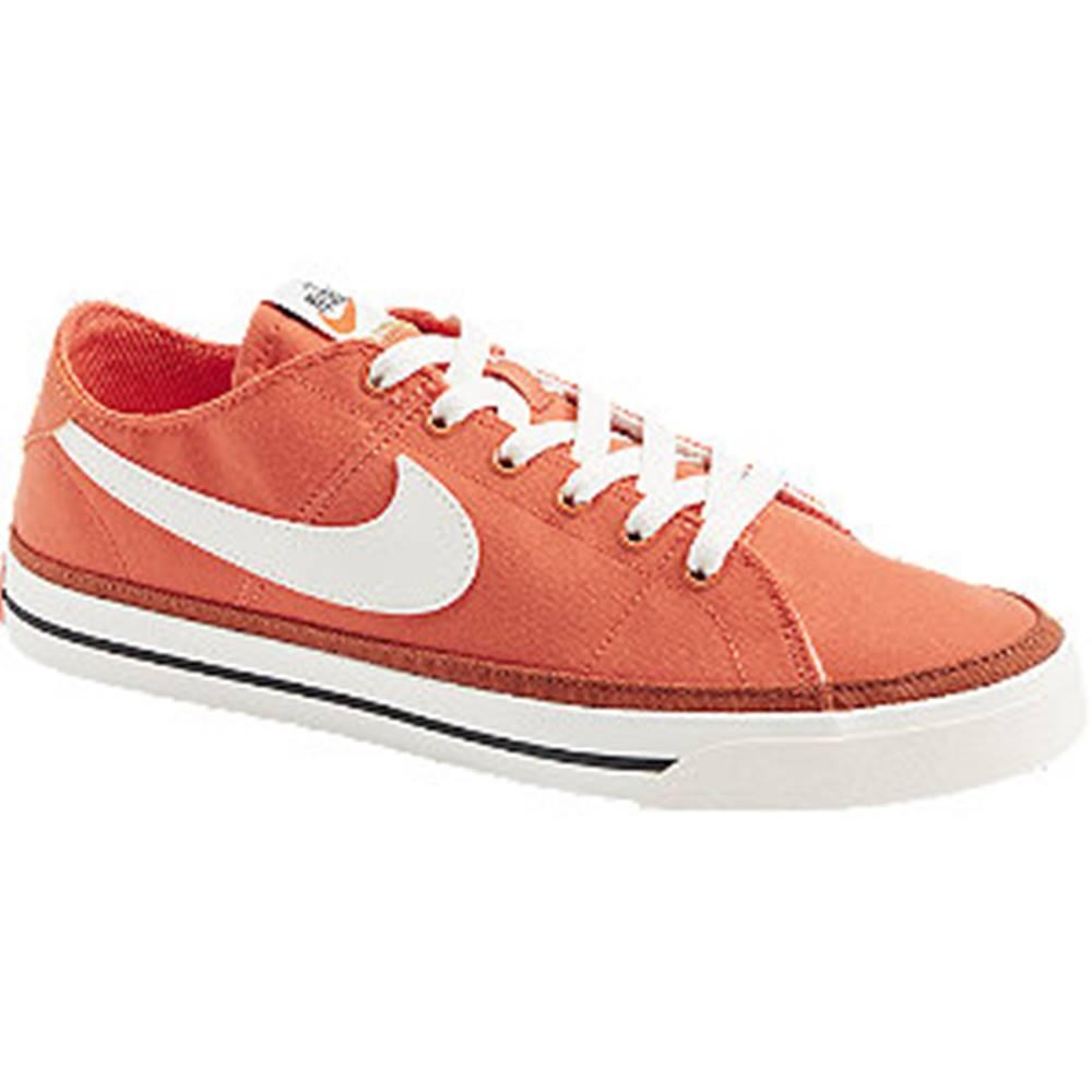 Nike Oranžové plátenné tenisky Nike Court Legacy
