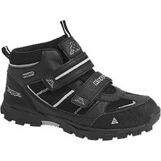 Čierna členková obuv na suchý zips s TEX membránou