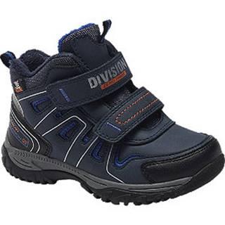 Tmavomodrá členková obuv na suchý zips