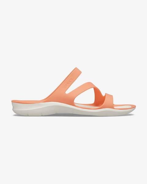 Oranžové papuče Crocs