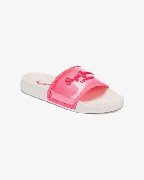 Ružové papuče Pepe jeans