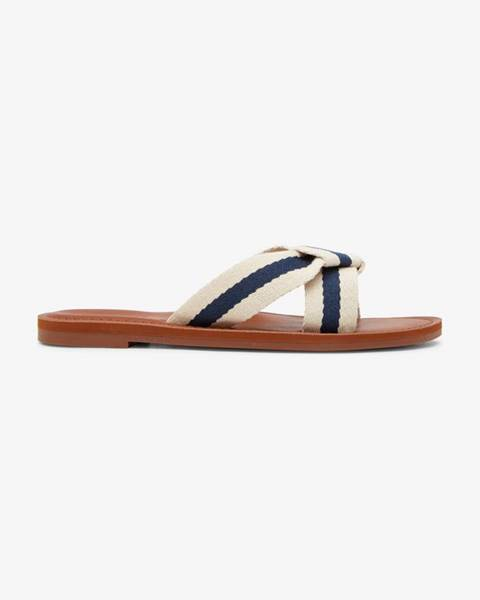 Biele papuče Roxy