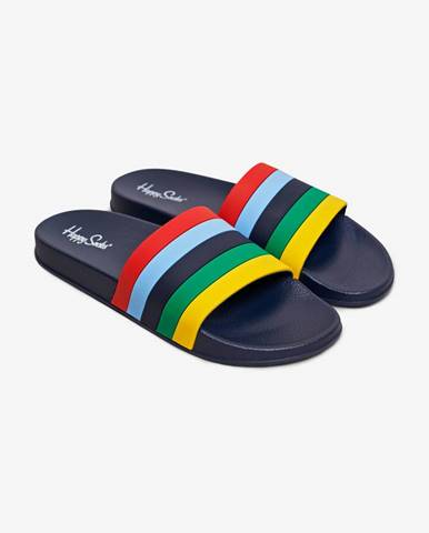 Modré papuče Happy Socks