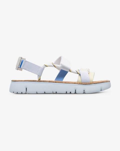 Biele sandále Camper