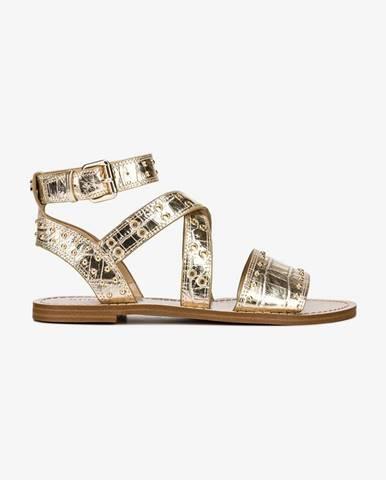 Zlaté sandále Guess