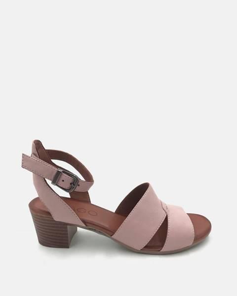 Svetloružové topánky wild